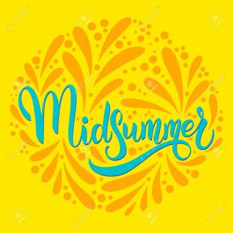 Midsummer hand drawn ettering